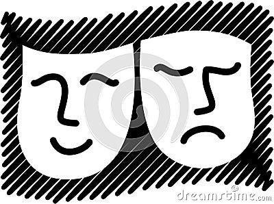 Comedy Tragedy Masks/eps