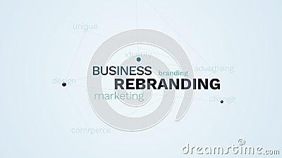 Comercio del dise?o del cambio de la identidad de marca de la publicidad de marcado en caliente del m?rketing de negocio de Rebra libre illustration