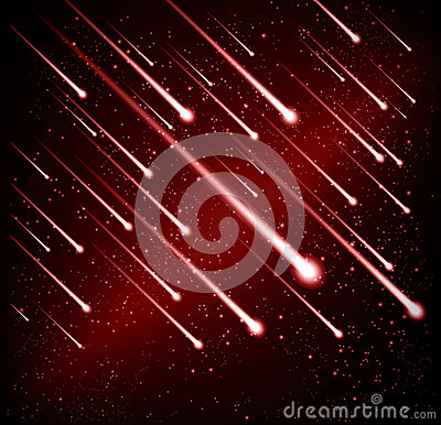 Comet meteor shower background