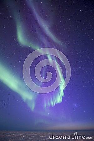 Comet and northern lights