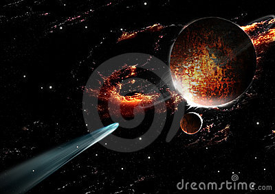 Comet planet