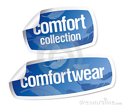 Comfort wear stickers
