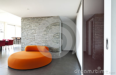 Comfortable armchair orange