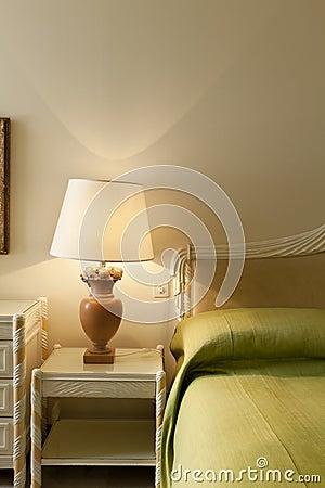 Comfortable bedroom,detail