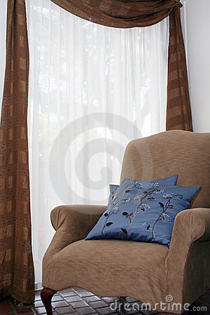 Comfortable Chairs on Comfortable Chair By Window Stock Photo   Image  6075760