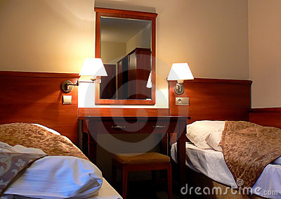 Comfortable hotel bedroom