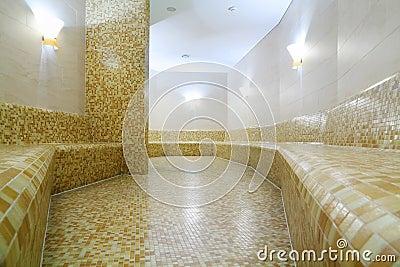 Comfortable light turkish bath