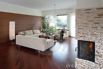 Comfortable Modern Living Room Stock Photo Image 2541150