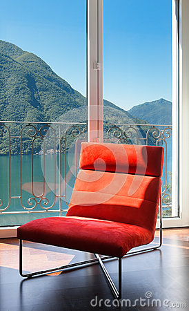 Free Comfortable Red Armchair Stock Photo - 32843360