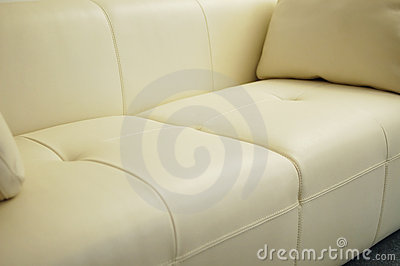 Comfortable sofa at home