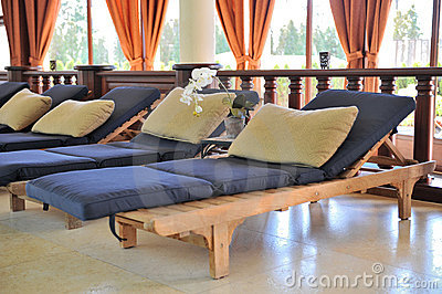 Comfortable spa loungers
