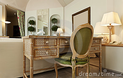Comfortable suite, wooden desk