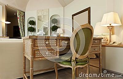 Comfortable suite, wooden desk