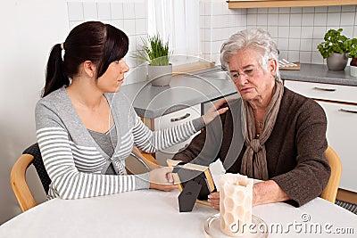 Comforting a widow