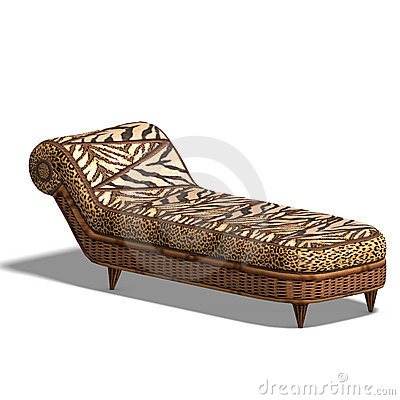 Comfy chaiselon with african design