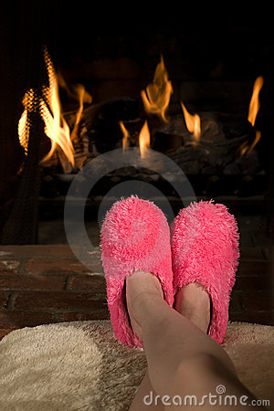 Free Comfy Feet Royalty Free Stock Image - 4036886