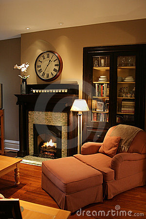 Comfy home fireplace
