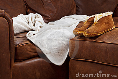 Comfy sofa blanket slippers
