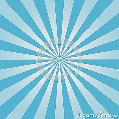 Comic background. Blue Sunburst pattern. Sun rays abstract backdrop. Vector. Vector Illustration