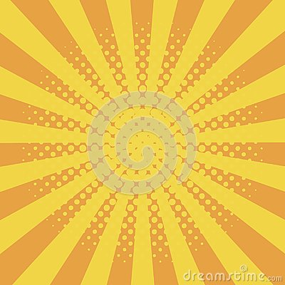 Free Comic Background With Halftone Effect And Sunburst. Comic Book Elements With Dots And Sunray. Yellow Starburst Abstract Backdrop. Stock Photo - 106557470