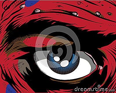 Comic book - eye.