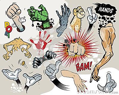 Comic book - Hands.