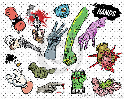 Comic book - Hands.