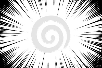Comic book radial lines background. Manga speed frame. Explosion vector illustration. Star burst or sun rays abstract backdrop Vector Illustration