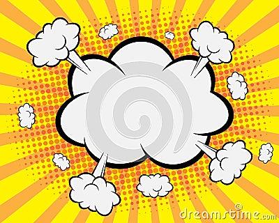 Comic Book Speech Bubble , Pop art Background Vector Illustration