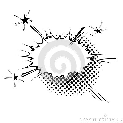 Free Comic Book Style Explosion Expression Cloud Retro Design. Burst Royalty Free Stock Image - 99101766