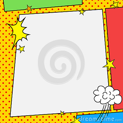 Comic book style frame Vector Illustration