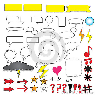 Free Comic Bubbles And Elements Royalty Free Stock Images - 64291979