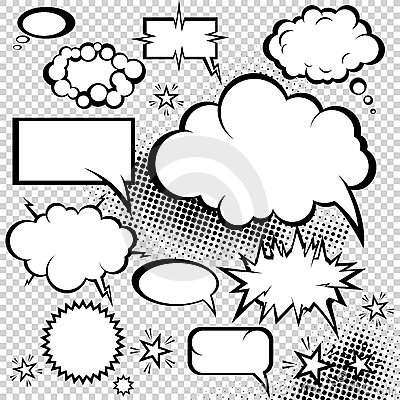 Free Comic Bubbles Collection Stock Image - 16612381