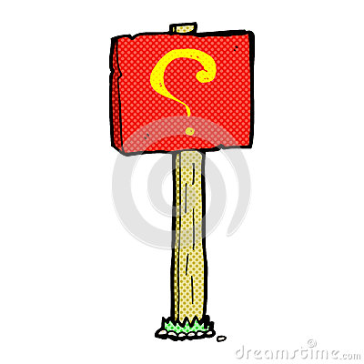 ... comic book style cartoon question mark sign post mr no pr no 0 20 0: http://dreamstime.com/stock-illustration-comic-cartoon-question-mark-sign-post-retro-book-style-image51586104