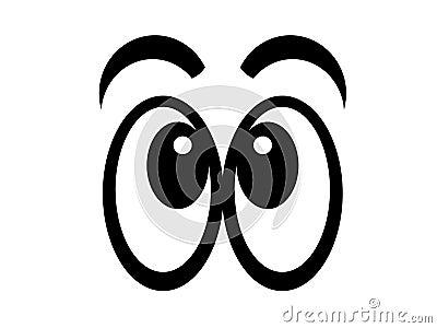 Comic eyes bw