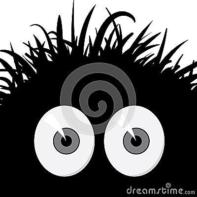 Comic frightened creature - vector illustration