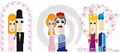 Comic people / Costume ball / Dummy /wedding