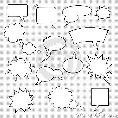Comic speech bubble set Vector Illustration