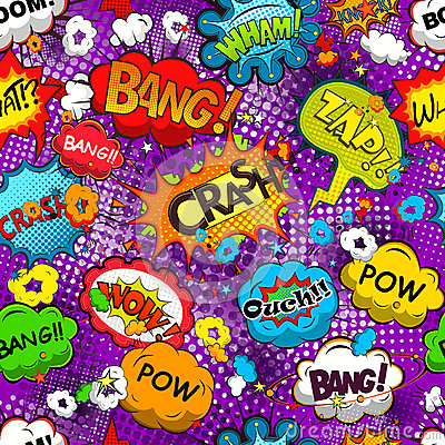 Free Comic Speech Bubbles Seamless Pattern Vector Stock Photography - 54924532