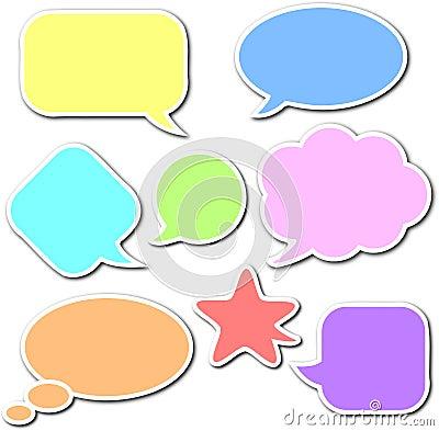 Free Comic Speech Bubbles Set Royalty Free Stock Photos - 24938728