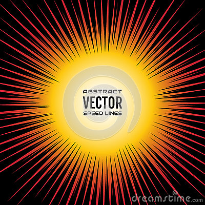 Free Comic Speed Lines Radial Background, Like A Sun. Red Yellow Gradient Festive Illustration With Effect Power Explosion Stock Photo - 92978820
