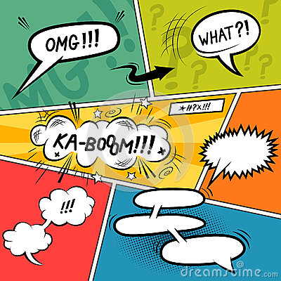 Free Comic Strip Speech Bubbles Royalty Free Stock Photo - 34573755