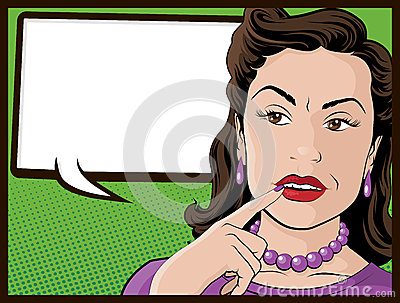Comic Style Confused Housewife