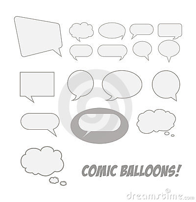 Comic talk balloons
