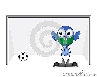 Comical goalkeeper