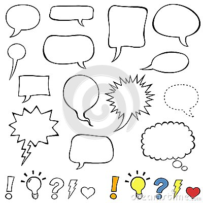 Free Comics Style Speech Bubbles Stock Image - 49933381