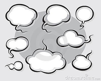 Comics Word and Thought Bubbles