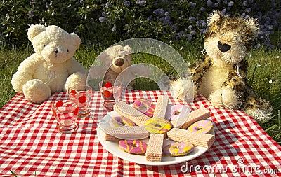 Comida campestre de los osos