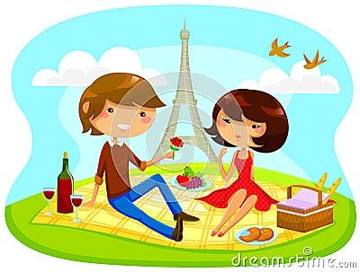 Comida campestre romántica