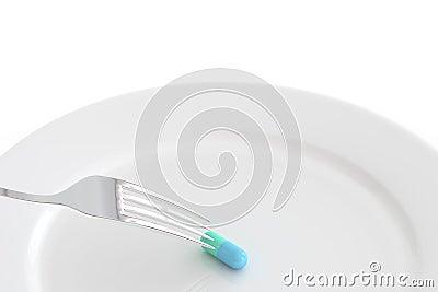 Comida de la píldora